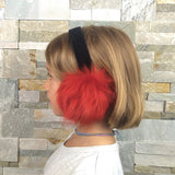 Red Shearling Earmuffs