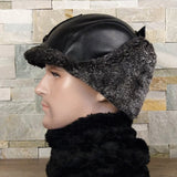 Shearling cap for men