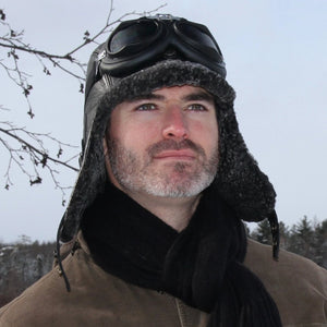 Men's Sheepskin Aviator Hat
