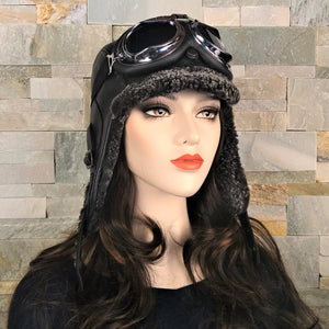 Steampunk winter hat, women