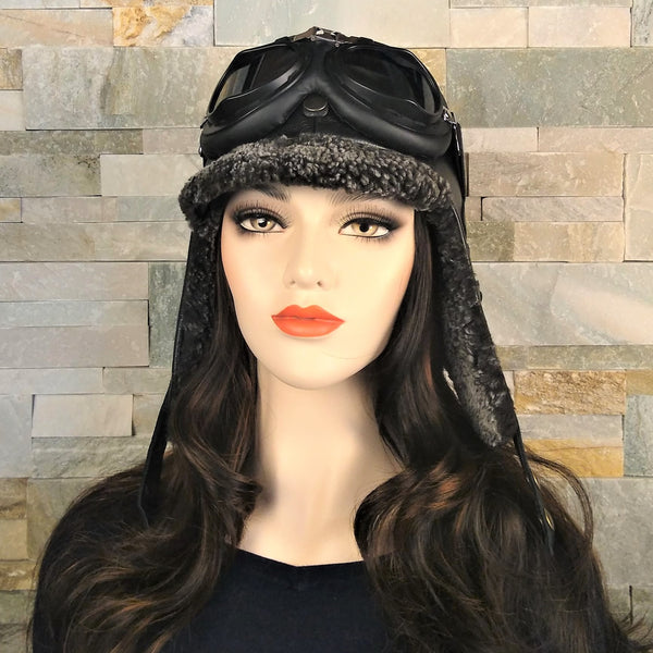 Winter aviator hat for women