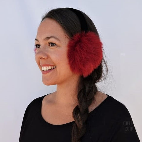 Women's fur earmuffs