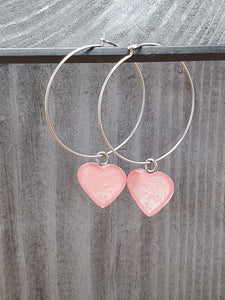 Round wire drop hearts
