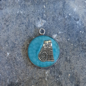 Fat Cat pendant necklace