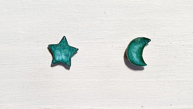 Mini moon & star studs