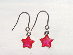 Star drop earrings with short wires