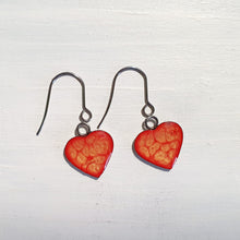 Load image into Gallery viewer, Heart drop earrings with short wires