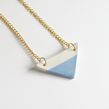 Blue Triangle Ceramic Necklace