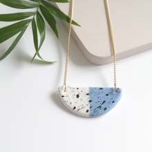 Blue and Black Speckled Ring Dish