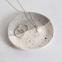 Grey and Black Speckled Ring Dish