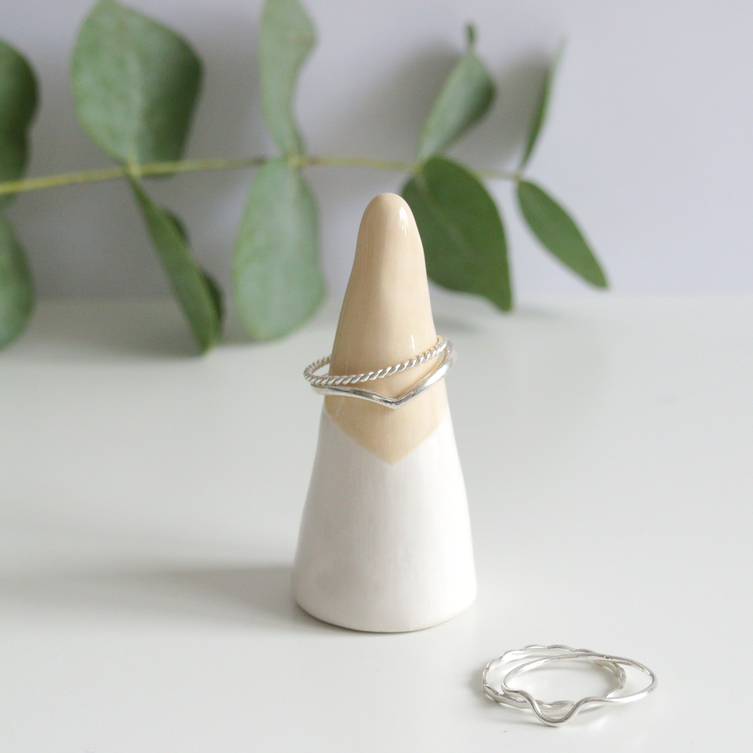 Peach Ceramic Ring Cone