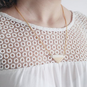 Peach Ceramic Necklace