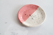 Pink and Black Speckled Ring Dish