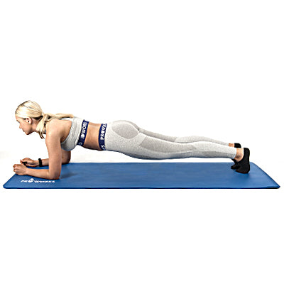 Girl Performing a Standard Bodyweight Plank