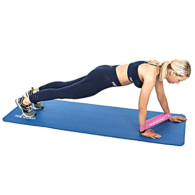 Girl Planking with Proworks Resistance Bands