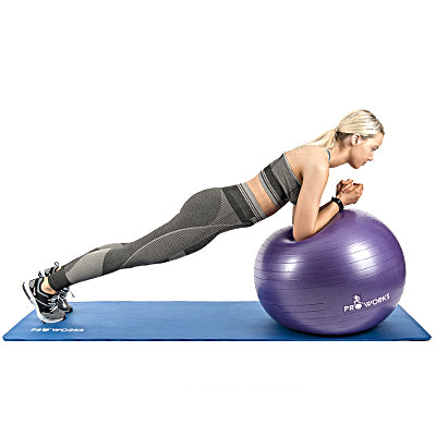 Girl Performing a Plank using a Proworks Exercise Ball
