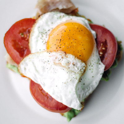 Egg and Tomatoes on Toast