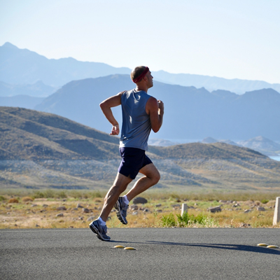 An Optimally Hydrated Runner Exercising
