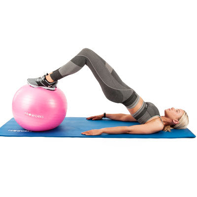Girl Exercising on a Proworks Gym Ball