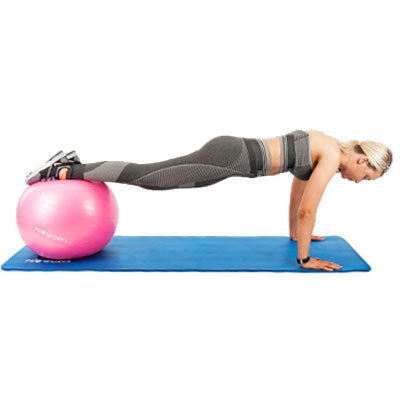 Girl Exercising on a Proworks Swiss Ball