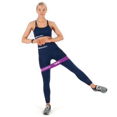 Girl Working Out with a Proworks Glute Band