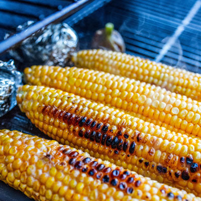Healthy Corn Recipe Cooking on a Barbecue Grill