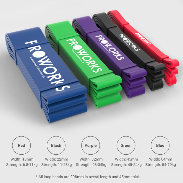 Proworks Fitness Pull Up Resistance Bands Dimensions