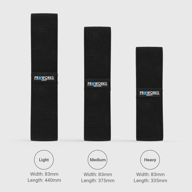 Proworks Glute Bands Dimensions