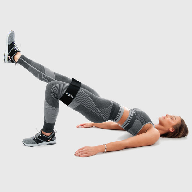 Woman Working Out with Proworks Black Glute Bands