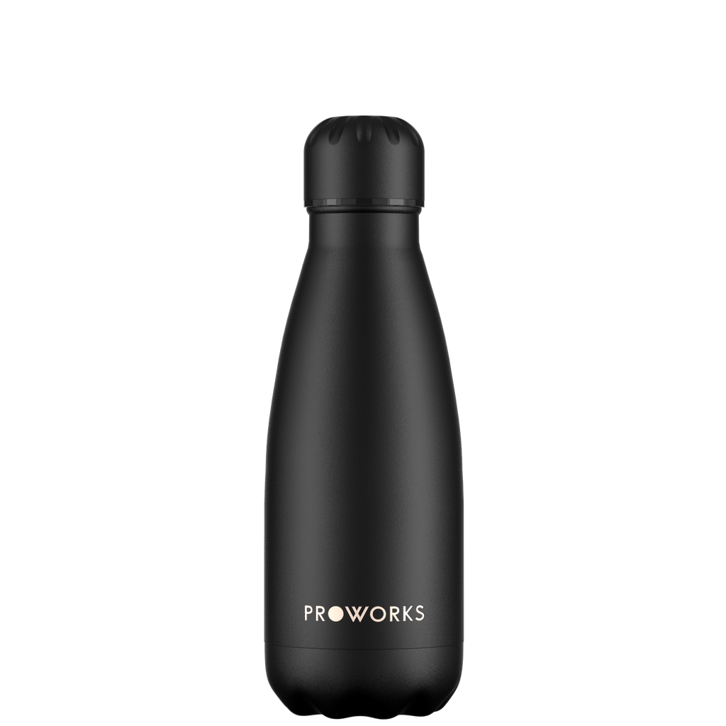 Proworks All Black 350ml Water Bottle