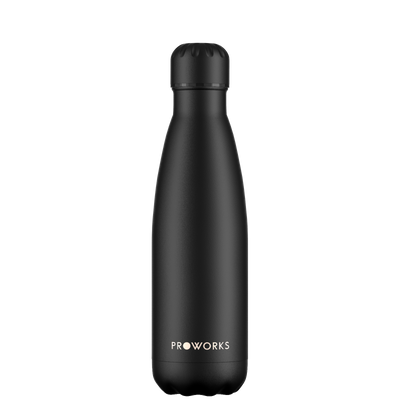 Proworks All Black 500ml Water Bottle