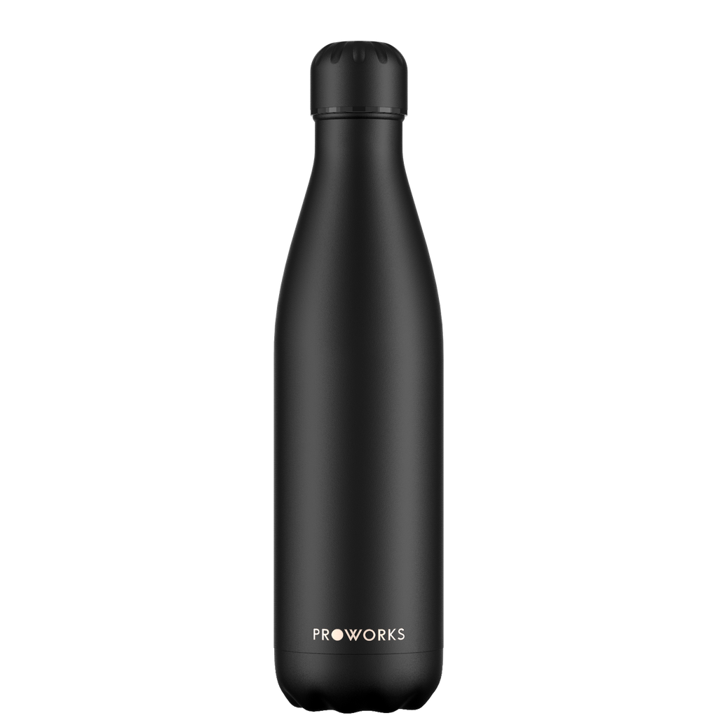 Proworks All Black 750ml Water Bottle