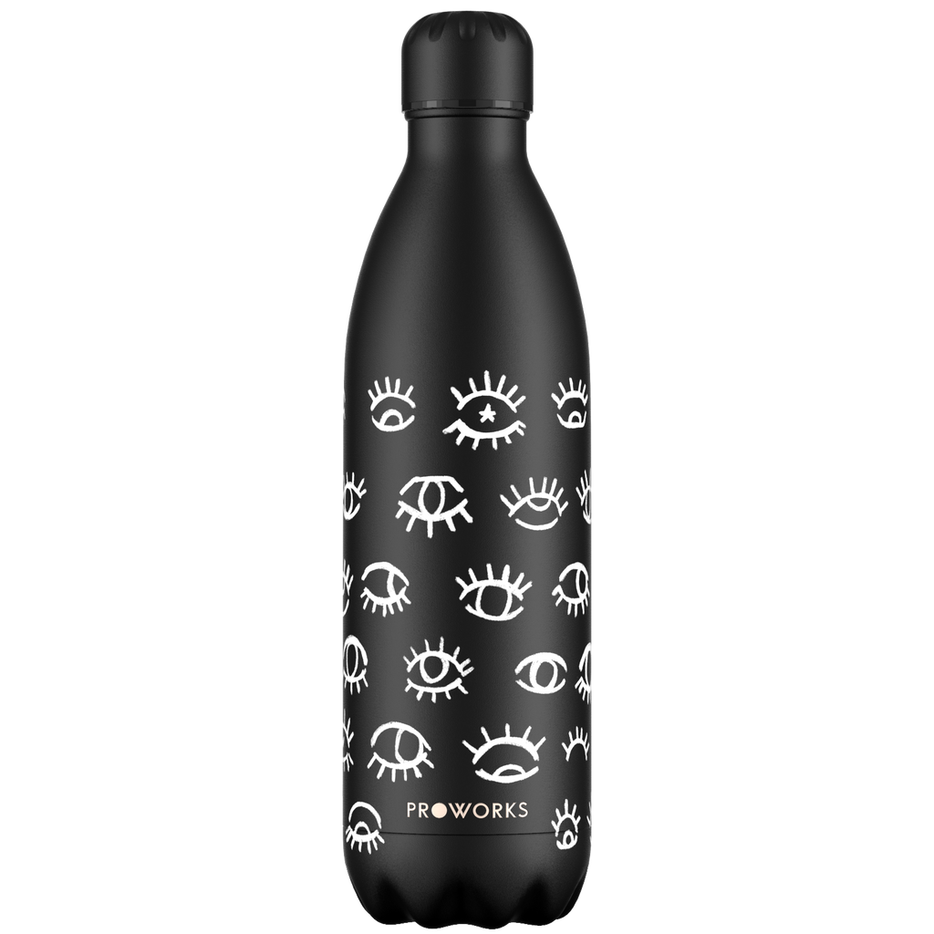 Proworks Black Eye See You 1L Water Bottle