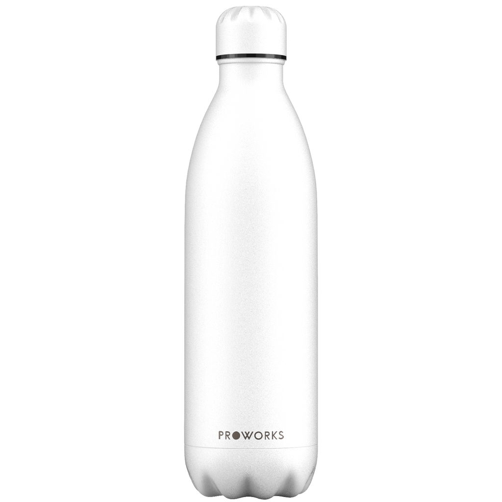 Proworks All White 1L Water Bottle