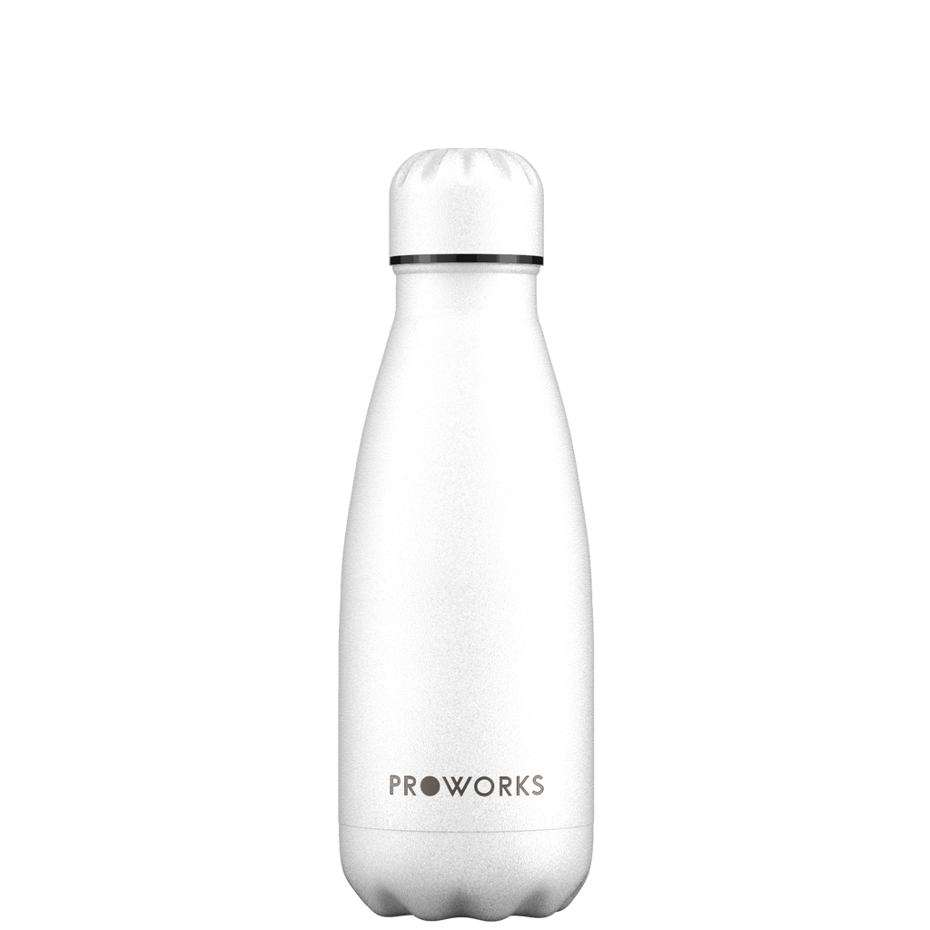 Proworks All White 350ml Water Bottle