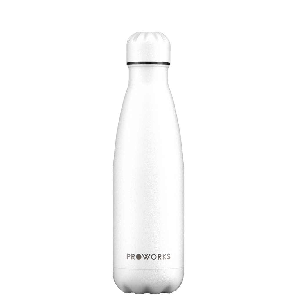 Proworks All White 500ml Water Bottle