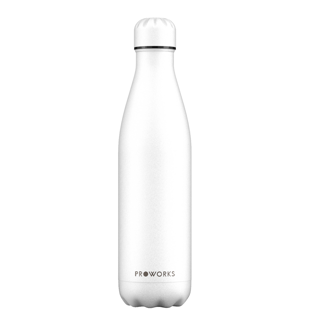 Proworks All White 750ml Water Bottle