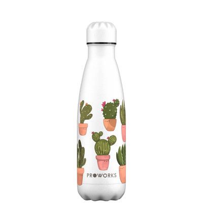 Proworks Happy Cactus 500ml Water Bottle