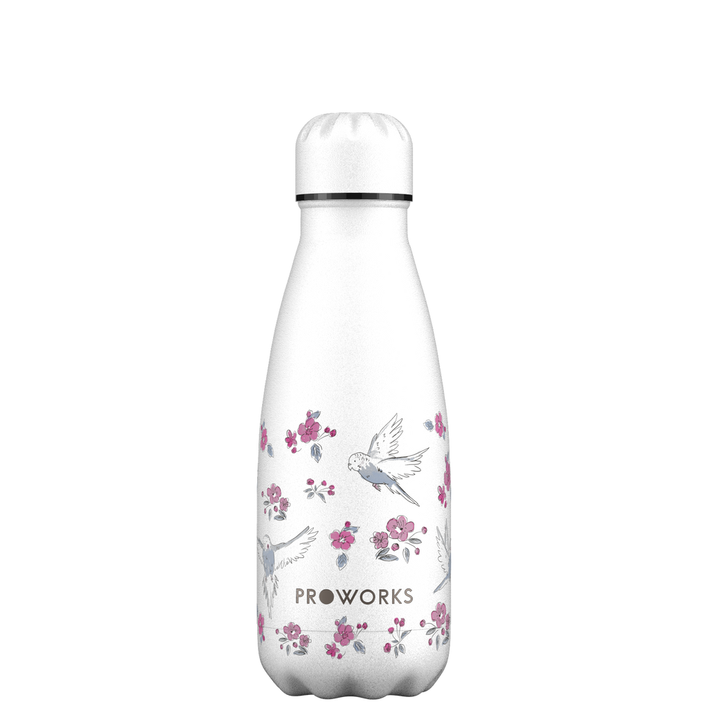 Proworks White Birds and Cherry Blossom 350ml Water Bottle
