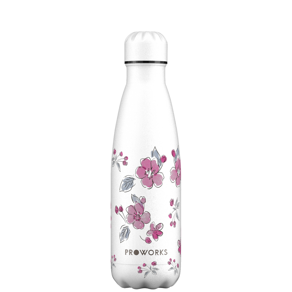Proworks White Cherry Blossom 500ml Water Bottle