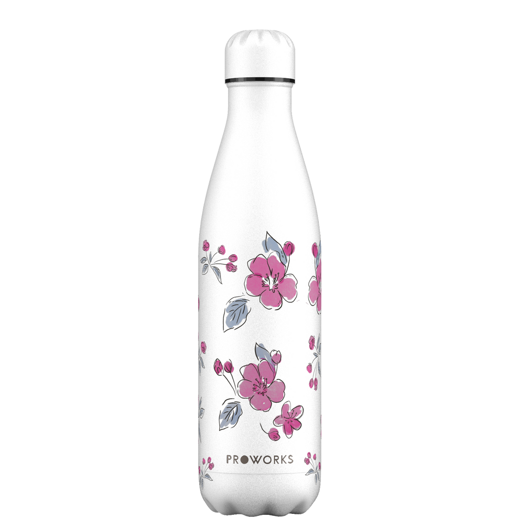 Proworks White Cherry Blossom 750ml Water Bottle