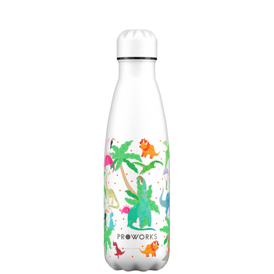 Proworks White Dinosaur 500ml Water Bottle