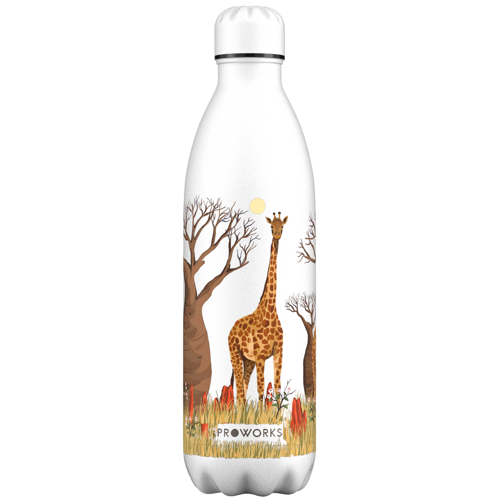 Proworks White Giraffe 1L Water Bottle