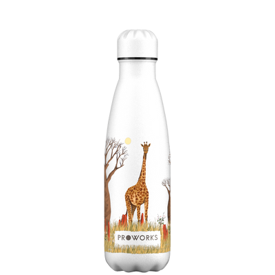 Proworks White Giraffe 500ml Water Bottle