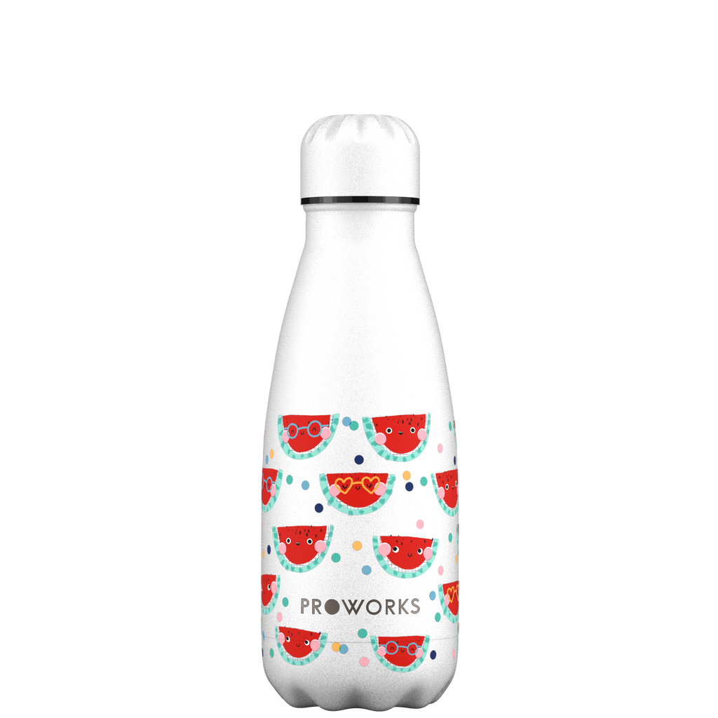 Proworks White Happy Melons 350ml Water Bottle