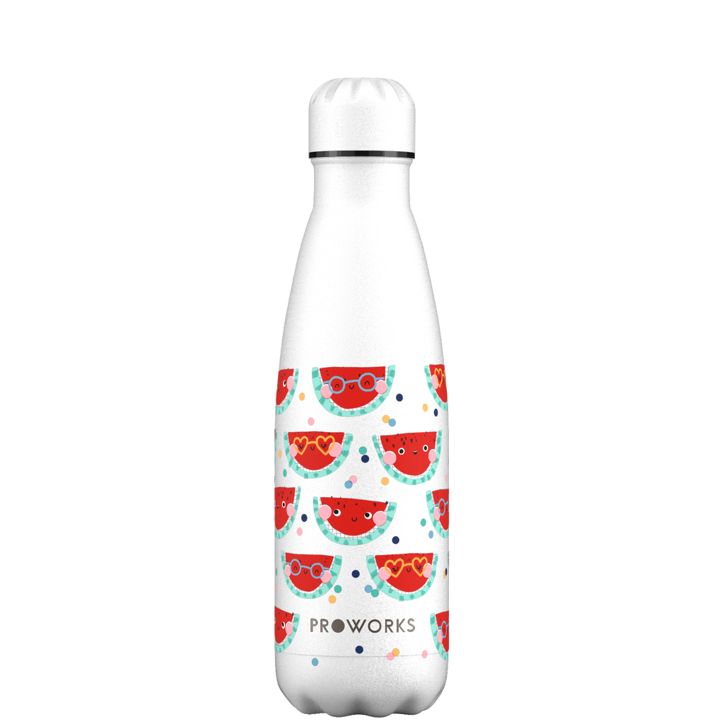 Proworks White Happy Melons 500ml Water Bottle
