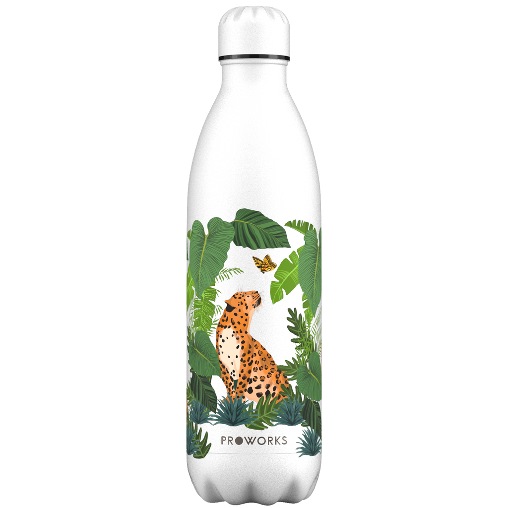 Proworks White Leopard 1L Water Bottle