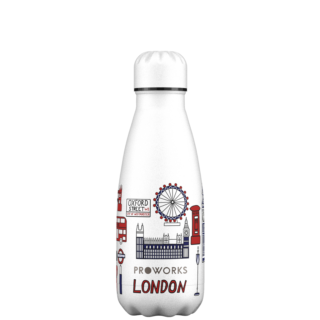 Proworks White London Edition 350ml Water Bottle