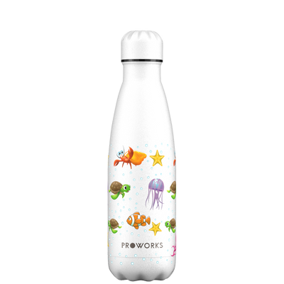 Proworks White Marine Life 500ml Water Bottle
