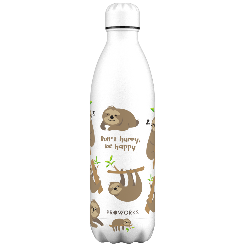 Proworks White Sloth 1L Water Bottle